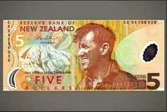 Five New Zealand Dollars. 5 Dollar Bill, Top Of Mount Everest, New Zealand Dollar, Antarctica, My Collection, World, Coins, Led, Collections