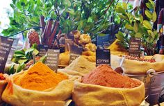 Greek spices & aromatic herbs @ family-owned food shop in Athens! | #greekfood #greekcuisine #greekcooking #loveAthens #foodtour #thisisAthens