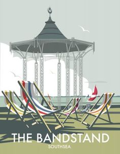 This The Bandstand - Southsea Art Print is created using state of the art, industry leading Digital printers. A stunning Art Print featuring the design of The Bandstand, Southsea, Portsmouth. Portsmouth, Posters Uk, Poster Prints, Retro Posters, Art Nouveau Poster, Vintage Travel Posters, Poster Vintage, Vintage Art Prints, Pictures Images