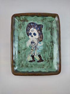 The Old Soldier, El viejo soldado Sugar Skull Earrings, Bead Shop, Ceramic Clay, Daughter Love, Tropical Flowers, Flower Earrings, Safe Food, Art Forms, Old Things