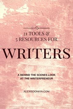 21 Tools & 5 Resources for Writers - Do you have everything you need to reach your goals? Do you want a behind the scenes look into a writer's toolbox? In this Goal Post, I share 21 tools and 5 go-to resources, as well as things I'm researching. Click to read now or pin for later!
