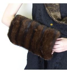 Fur Muffs Completely re-designed, the padded Kasha lining will keep hands toasty and the built in zipper pocket holds all essentials. Revamp Clothes, Diy Clothes, Fur Pillow, Fur Accessories, Vintage Fur, Hand Warmers, Fur Jacket, Leather Craft, Faux Fur