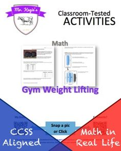 This activity is a great activity for applying mathematics inside the realm of weight lifting.  Students will be required to calculate volumes of weight plates (cylinders), convert between units and determine their densities to discover their metal makeup.