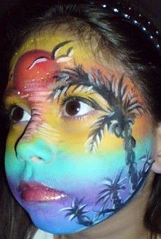 Tropical face painting