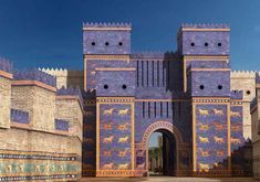 Art History 101 stuff: the Ishtar Gate of Babylon, built about 575 BC, during the reign of King Nebuchadnezzar II. Now reconstructed at the Pergamon Museum in Berlin. Ancient Mesopotamia, Ancient Civilizations, Ancient Egypt, Ancient History, Art History, European History, Ancient Aliens, Ancient Greece, American History