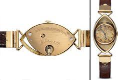 Montre-bracelet à remontage automatique. Cadran et masse de remontage signés L.Leroy & Cie, N° 11351. Vendue le 25 mars et livrée le 2 septembre 1922. © Coll. du Musée L.Leroy Gold Pocket Watch, Watches, Mars, Accessories, Products, Bracelet Watch, Clock Art, Automatic Watch, September 2