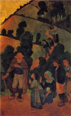 Bretons on a Path - Paul Serusier