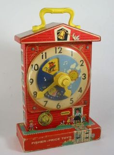 Vintage Fischer Price Music Teaching Clock Toy by EdSmithDesigns