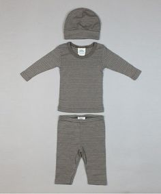 Another great find on #zulily! Gray Stripe Layette Set - Infant #zulilyfinds