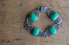 vintage Art Deco bracelet / 1930s jewelry / by jeanjeanvintage, $88.00