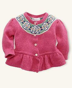 Ralph Lauren Baby Sweater, Baby Girls Fair Isle Cardigan - Kids Baby Girl (0-24 months) - Macys
