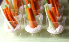 French Onion Dip And Crudites - Party food