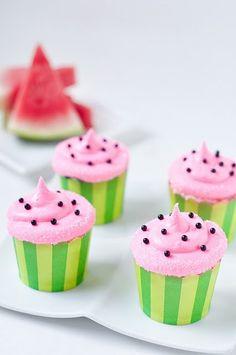 watermelon cupcakes <3