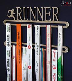 Sport Contour Double porte-médailles de course: Créez votre propre mur! -pour HONNOR de plus de 30 medals. -Designed votre préféré et bien…