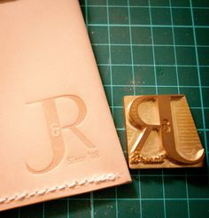Custom Leather Stamp for Stamping / Engraving / Embossing Leather. $32.00, via Etsy.