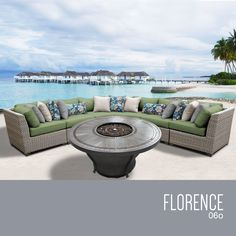 Florence 6 Piece Sectional Set with Cushions
