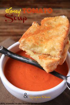 Honey Tomato Soup & Gruyere Panini