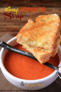 Honey Tomato Soup by Kirsten | My Kitchen in the Rockies #soup #tomatoes #honey #lunch