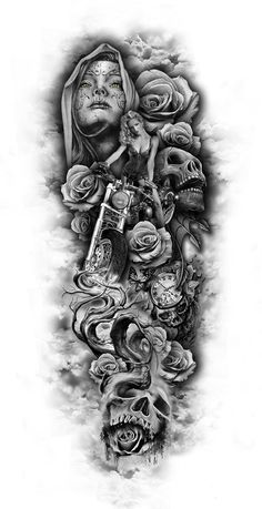 www.customtattoodesign.net wp-contento​ uploads 2014 04 full-sleeve-design...jpg