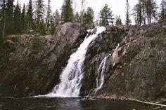 (12/14) Putous suoraan edestä (filmikameralla). Kuva: Jussi Laine 2.6.2009. Finland, Waterfall, Outdoor, Outdoors, Waterfalls, Outdoor Games, Rain, Outdoor Living