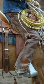 Western saddle fit for the rider