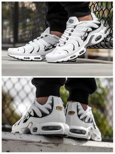 NIKE Women's Shoes - Nike Air Max Plus TN White Tiger - Find deals and best selling products for Nike Shoes for Women Nike Shox, Nike Roshe, Nike Flyknit, Flyknit Racer, Nike Huarache, Nike Free Shoes, Running Shoes Nike, Running Sneakers, Basket Style