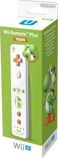 A #Yoshi themed Motion control plus for #WiiU was revealed today, it releases on the same day as #MarioKart8.  More info at http://www.superluigibros.com/new-mario-kart-8-themed-wii-u-premium-bundles