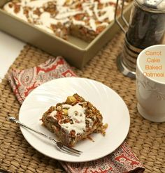 Carrot Cake Baked Oatmeal | Food Done Light