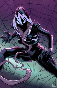 Symbiote Male Reader X Gwen Stacy Aka Ghost Spider # Фанфик # amreading # books # wattpad Spider Gwen Venom, Spiderman Spider, Amazing Spiderman, Venom Comics, Marvel Venom, Marvel Comics Art, Superhero Villains, Marvel Villains, Marvel Characters