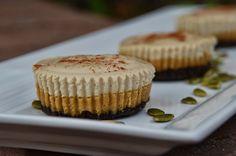 No-Bake Pumpkin Cheesecake with Vanilla Bean Coconut Cream Topping and Pumpkin Seed Crust  #TheTastyAlternative