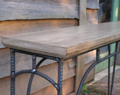 Custom Rustic Industrial Sofa Table by SoulSeeds on Etsy