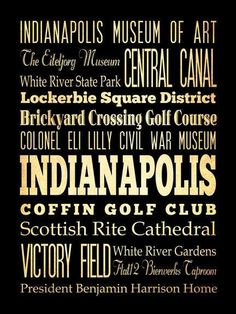 Indianapolis Indiana Typography Art Poster / by LegacyHouseArt, $44.95