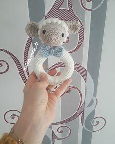 Kuzu çıngırak amigurumi pattern İnstagram: @mutlulukyumagi_zls Baby Rattle, Crocheting, Elsa, Knit Crochet, Teddy Bear, Photo And Video, Knitting, Toys, Pattern