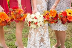 Bridal and bridesmaid bouquets from www.creationsbydebbie.net