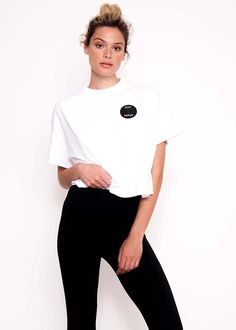 Looks cute on you, boo. Our Not Today patch tee shot by NYLON, available to buy here: http://shop.nylon.com/products/not-today-white-tee-shirt