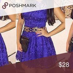 Purple lace dress Mini purple dress fits runs small so large would be XL Dresses Mini