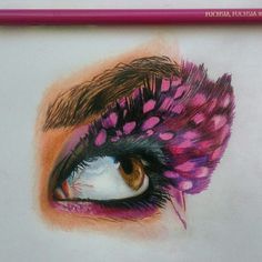 Fuchsia pink eye