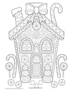 Amazon Christmas Coloring Book Is Fun 9781497200807 Thaneeya McArdle Books