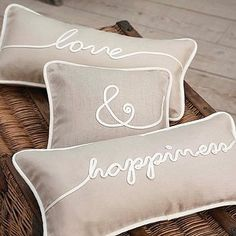 love & happiness pillows: