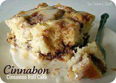 "cinnabon cinnamon cake  **I give it 5 stars!"""