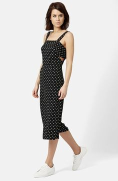 Topshop Daisy Print Jumpsuit available at #Nordstrom