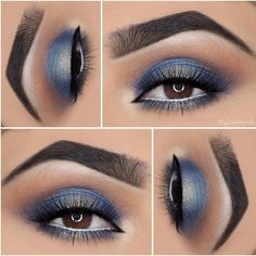 ⚡ Electric Blue ⚡ using Brow Definer in 'Ebony' & in Fawn☄️Sienna☄️Fudge☄️Star Cobalt☄️Prussian Blue☄️Peach Sorbet Makeup Goals, Makeup Kit, Diy Makeup, Beauty Makeup, Makeup Ideas, Prom Makeup, Makeup Tutorials, Peach Sorbet, Mascara Wands