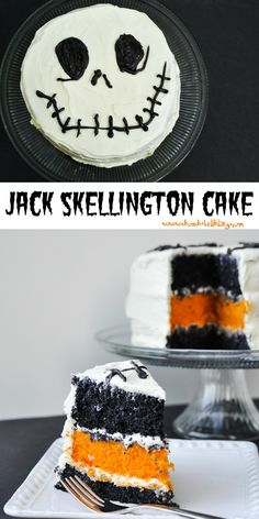 A Jack Skellington Cake for The Nightmare Before Christmas lovers!