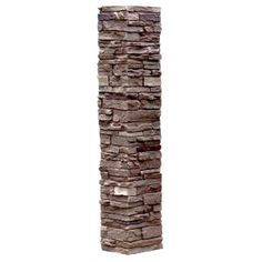 Nextstone Slatestone 8 In X 41 Brunswick Brown Faux Polyurethane Stone Post Cover Sls Pc Bb At The Home Depot Mobile