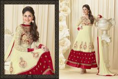 Kareena Cream Pure Georgette Anarkali Suit Design No :- 18332 Product :- Unstitched Salwar Kameez Size :- Max 40 Fabric :- Georgette Work :- Heavy Embroidery Work Stitching Charges :- र 400 Price :- र 4769  For Sales Queries :- sales@manjaree.in OR call on 0261-3131669  For More Information :- http://manjaree.in/  Follow Our Blog :- http://manjareefashion.blogspot.in/