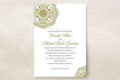 Ornamental Wedding Invitations