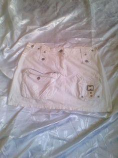 Falda mini DARE blanco.