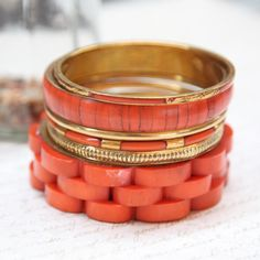 brickstone bangle set, burnt orange, fall fashion