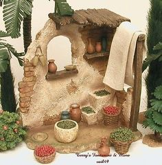 "FONTANINI ITALY 5"" OLIVE FIG SHOP 2011 NATIVITY VILLAGE BUILDING NEW 55558 NIB"