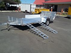aluma 8114SR side load trailer with solid sides